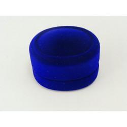 Ozdobená zamatová modra krabička D330