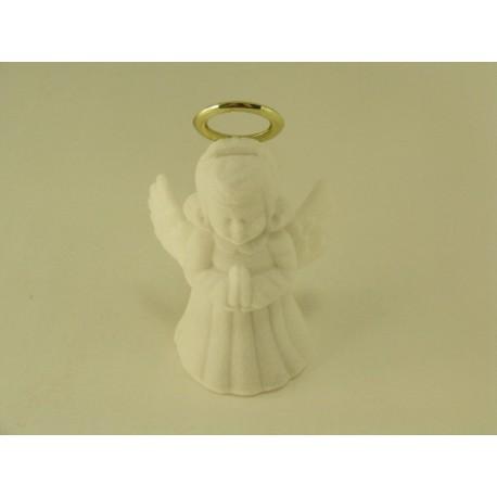 Ozdobná zamatova krabička anjel biela farba D330
