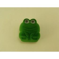Ozdobná zamatová krabička žaba zelená D295