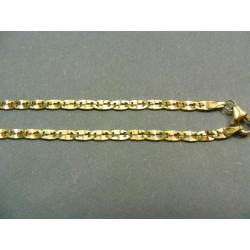 Zlatá retiazka viacfarebná žiletka VR45585