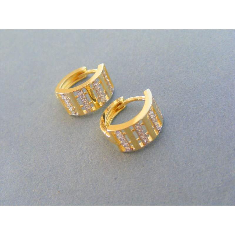 21c780ca7 Zlaté dámske náušnice žlté zlato kamienky VA293Z. Loading zoom