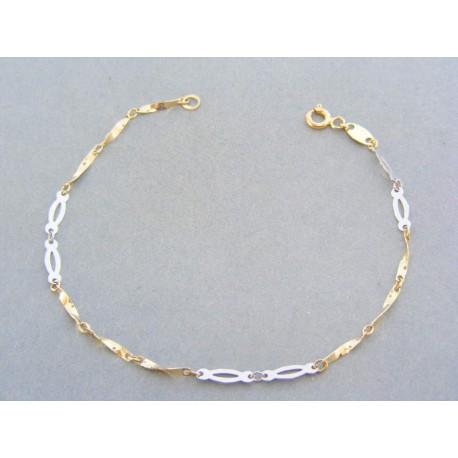 d76fe04d4 Zlatý dámsky náramok zaujímavy vzor žlté biele zlato VN18120V 14 karát  585/1000 1.20g