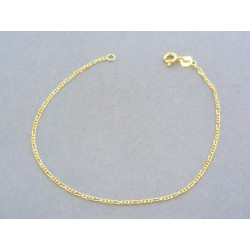 e1c427e1f Zlatý náramok žlté zlato vzor figáro VN18101Z 14 karátov 585/1000 1.01g