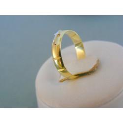Zlatý prsteň ruženec žlté červené zlato DP54230V 14 karátov 585/1000 2.30g