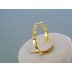 Zlatý prsteň ruženec žlté červené zlato DP61160V 14 karátov 585/1000 1.60g