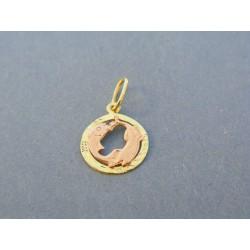 d750e4b66 Zlatý prívesok znamenie ryby žlté červené zlato VI048V 14 karátov 585/1000  0.48g