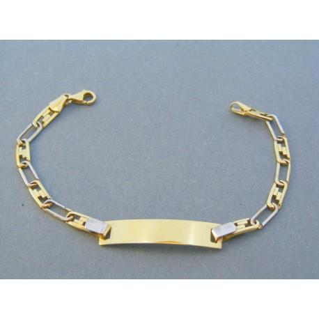 e96970ad8 Zlatý náramok platnička žlté biele zlato VN155504V 14 karátov 585/1000 5.04g