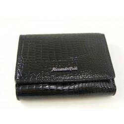 Dámska kožená peňaženka čierna V01-09Nero