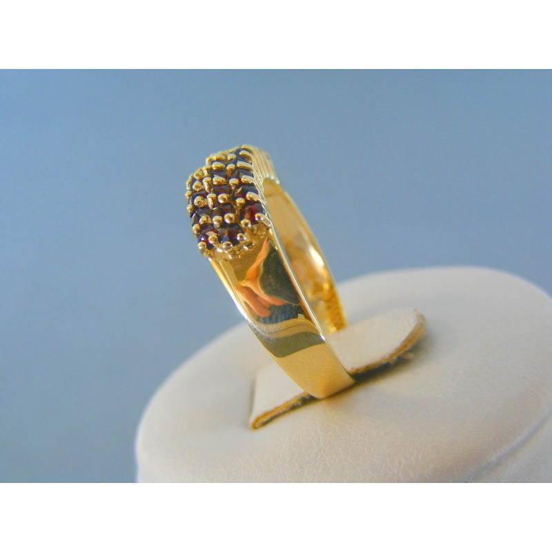 Zlatý dámsky prsteň žlté zlato český granát DP58350Z 14 karátov 585 1000  3.50g. Loading zoom cdfe4d0ae50