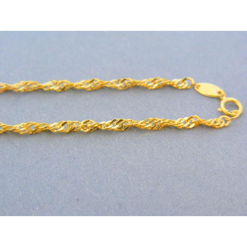 e5af46746 Zlatá retiazka žlté zlato vzor singapúr DR45185Z 14 karátov 585/1000 1.85g.  Loading zoom