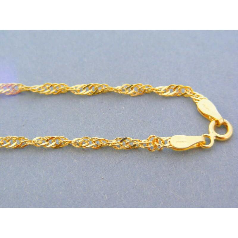 ce1c27775 Zlatá retiazka žlté zlato vzor singapúr DR46218Z 14 karátov 585/1000 2.18g. Loading  zoom