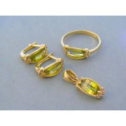 Zlatá dámska súprava náušnice prívesok prsteň VS60720Z 14 karátov 585/1000 7.20g