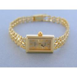 Zlaté náramkove hodinky GENEVE 990/2 14 karátov 585/1000