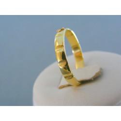 Zlatý prsteň ruženec žlté červené zlato VP61304V 14 karátov 585/1000 3.04g