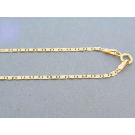 e7de394d5 Zlatá retiazka žlté biele červené zlato platničky DR42196V 14 karátov  585/1000 1.96g