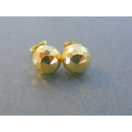 Zlaté dámske náušnice guličky napichovačky žlté zlato DA176Z 14 karátov  585 1000 1.76g. Loading zoom 0bc19e37312