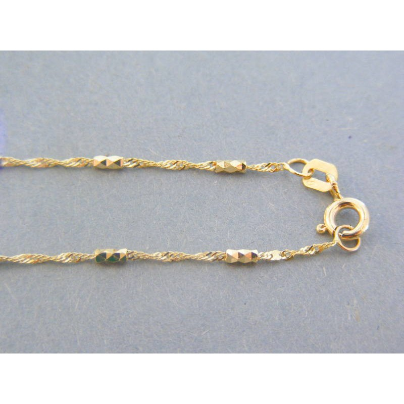dcd558e09 Zlatá retiazka dámska žlté zlato zdobená DR45210Z 14 karátov 585/1000  2.10g. Loading zoom