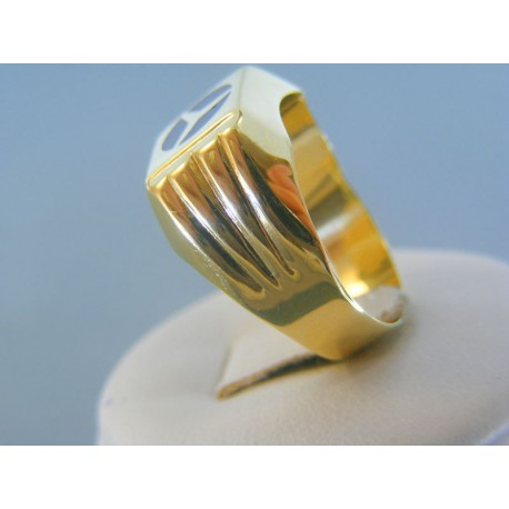 3b79832a5 Zlatý pánsky prsteň žlté zlato znak mercedes DP64409Z 14 karátov 585/1000  4.09g
