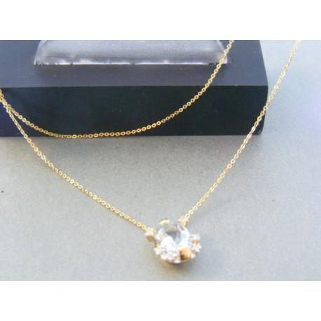 1dc7f15bb Zlatá retiazka s príveskom kameň žlté zlato DR45210Z 14 karátov 585/1000  2.10g