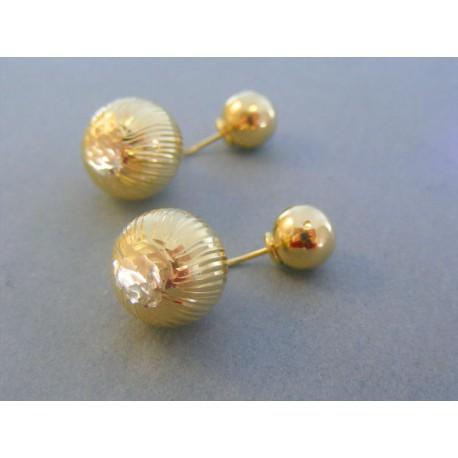 Zlaté dámske náušnice guličky šrubovačky žlté zlato DA693Z 14 karátov  585 1000 6.93g. Loading zoom 171d4f33c6b