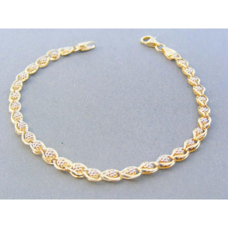 d5c2aa1bf Zlatý náramok žlté biele zlato zdobený VN185272V 14 karátov 585/1000 2.72g.  Loading zoom