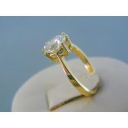99ab0da66 Zlatý dámsky prsteň žlté zlato veľký kameň DP47245Z 14 karátov 585/1000  2.46g
