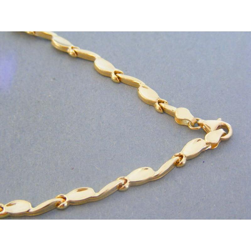 54d255b42 Zlatá dámska retiazka náhrdelnik žlté biele zlato VR44777V 14 karátov 585/ 1000 7.77g. Loading zoom