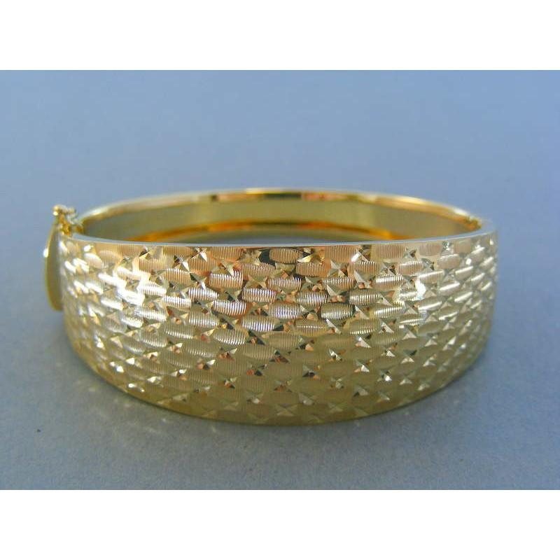 eb5850266 Zlatý dámsky náramok vzorovaný žlté zlato pevný DN1547Z 14 karátov 585/1000  15.47g. Loading zoom