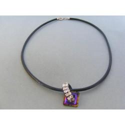 Strieborný náhrdelnik kameň swarovského DRS445577 925/1000 5.77g