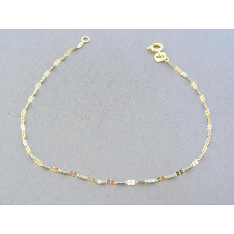 f0d24be03 Zlatý dámsky náramok žlté zlato zdobený VDN18055Z 14 karátov 585/1000  0.55g. Loading zoom