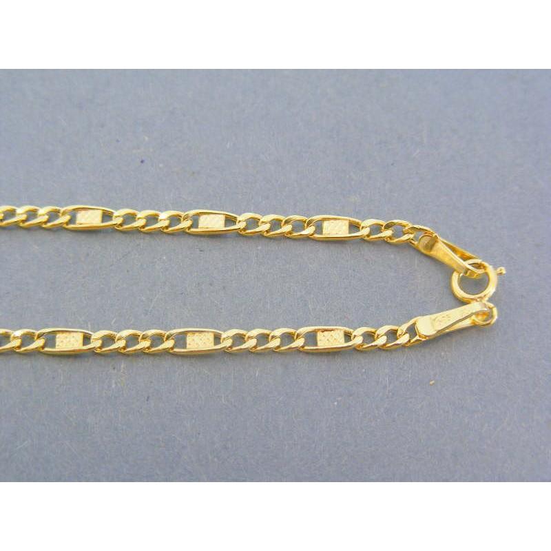 79c6826c8 Zlatá retiazka žlté zlato očká platničky DR445273Z 14 karátov 585/1000  2.73g. Loading zoom