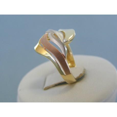 32a3c3ab0 Dámsky zlatý prsteň kombinované zlato VP56304V 14 karátov 585/1000 3.04g