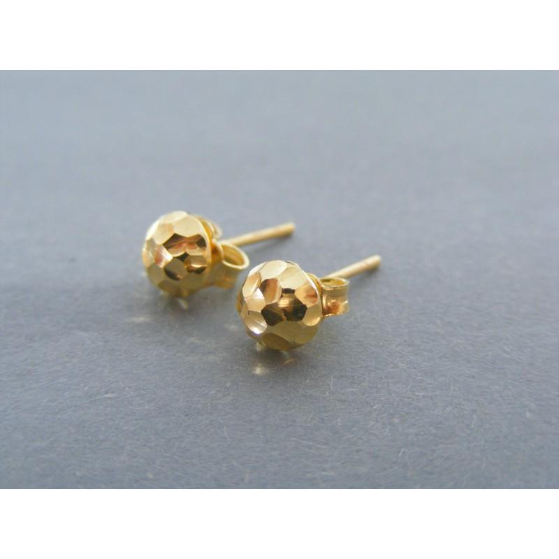 Zlaté dámske náušnice guličky vzorované DA105Z 14 Kkarátov 585 1000 1.05g. Loading  zoom da59a0b65f0