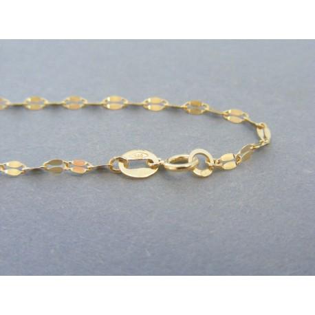ff983e414 Zlatá dámska retiazka vzorovaná žlté zlato DR45145Z 14 karátov 585/1000  1.45g. Loading zoom