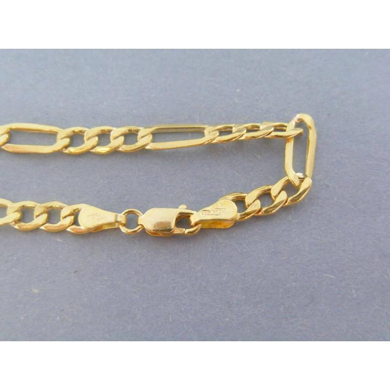 068a4a10e Zlatý náramok vzor figaro žlté zlato VN185244Z 14 karátov 585/1000 2.44g.  Loading zoom
