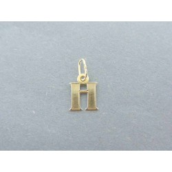 Zlatý prívesok písmenko DI019Z 585/1000 14 karátov 0.19g