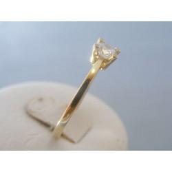Zlatý dámsky prsteň žlté zlato zirkóny DP64266Z 14 karátov 585/1000 2.66g