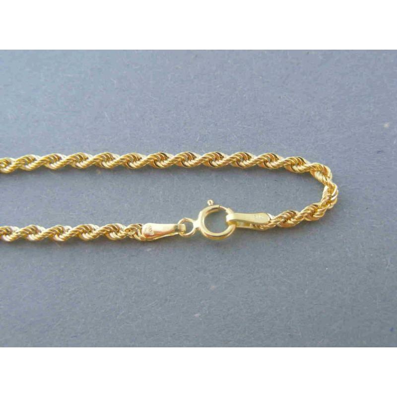 d118e4c89 Zlatá dámska retiazka točená žlté zlato DR50244Z 14 karátov 585/1000 2.44g. Loading  zoom