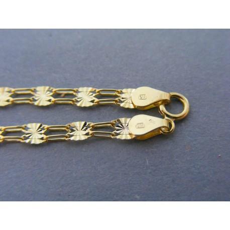 3255621cc Zlatý dámsky náramok vzorovaný žlté zlato DN195170 14 karátov 585/1000  1,70g. Loading zoom
