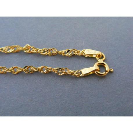 6a5de29f8 Zlatá dámska retiazka vzor singapur žlté zlato DR495166Z 14 karátov  585/1000 1,66g