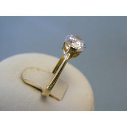 Zlatý dámsky prsteň zirkón žlté zlato DP57292Z 14 karátov 585/1000 2,92g
