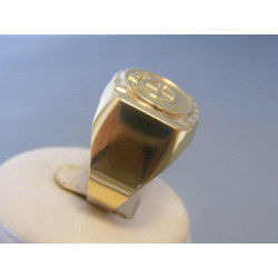 Zlatý pánsky prsteň žlté zlato DP67477Z 14 karátov 585/1000 4,77g
