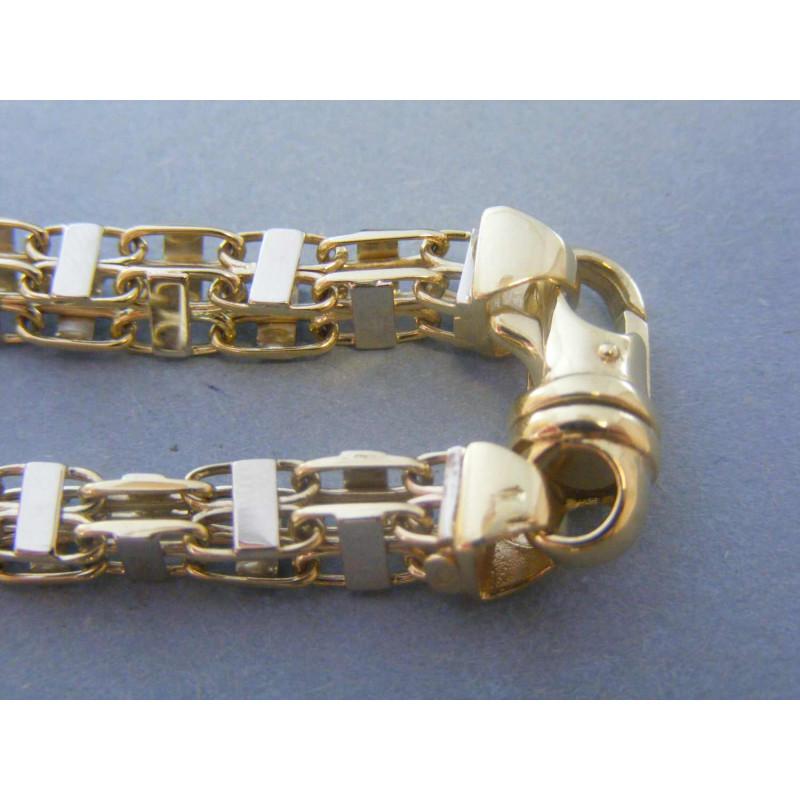afa9dd5ba Zlatý pánsky náramok vzorovaný biele žlté zlato VN222356V 14 karátov 585/ 1000 23,56g. Loading zoom