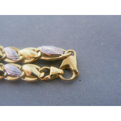 Zlatý dámsky náramok biele žlté zlato DN22675V 14 karátov 585/1000 6,75g