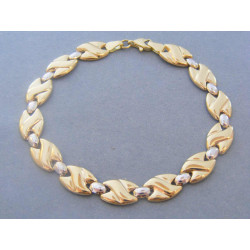 Zlatý dámsky náramok biele žlté zlato VN19433V 14 karátov 585/1000 4,33g