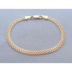 Zlatý dámsky náramok vzor bismark viacfarebné zlato DN18566V 14 karátov 585/1000 5,66g