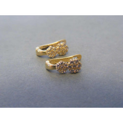 Zlaté detské náušnice kvietočky biele žlté zlato VA112 14 karátov 585/1000 1,12g