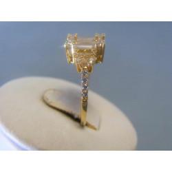 Zlatý dámsky prsteň žlté zlato zirkóny DP55317Z 14 karátov 585/1000 3,17g