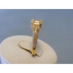 Zlatý dámsky prsteň žlté zlato zirkóny DP55287Z 14 karátov 585/1000 2,87g