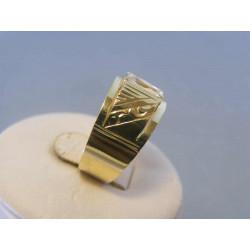 Zlatý dámsky prsteň zirkón žlté zlato DP59457Z 14 karátov 585/1000 4,57g
